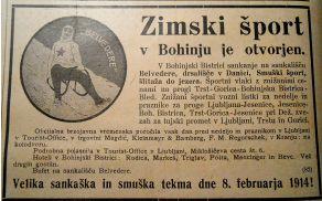 Zimski šport v Bohinju je »otvorjen«. Vir: Ilustrirani slovenski vestnik