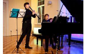 Odlična glasbenika, pianist Gregor Dešman in klarinetist Leonardo Franz. (Foto: Matej Vidmar)