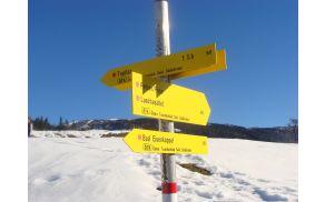 Kažipoti ob avstrijski meji