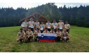 Strelci s spremljevalno ekipo, ki so LZS zastopali na evropskem prvenstvu.