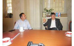 Tržiški župan mag. Borut Sajovic na obisku pri županu pobratenega mesta Ludbreg