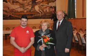 Župan Miran Gorinšek z Marinko Hasenbichel in mag. Dorijanom Zabukovškom