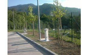 Urejeno počivališče za avtodome nad Gorenjsko plažo