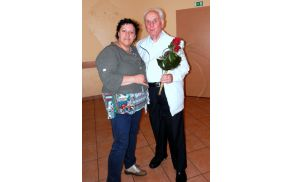 Predsednica Tanja z g. Jožetom.