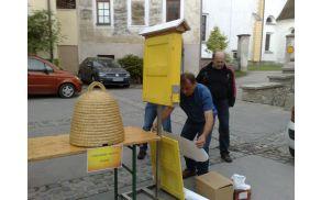 Prikaz čebeljega panja iz Čebelarskega društva Vojnik
