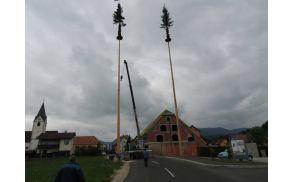 Postavljanje mlajev v Novi Cerkvi
