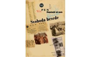 Plakat razstave 90 let Slovenskega centra PEN