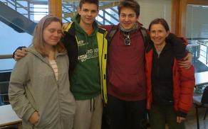 Novi strelski sodniki, od leve: Sabrina, Jan, Jurij in Natalija