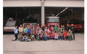 Na obisku pri gasilcih na letališču Brnik