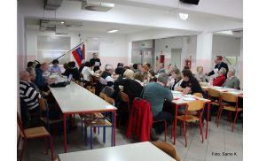 Udeleženci zbora članov Združenja borcev za vrednote NOB Vojnik-Dobrna