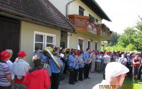Godba na pihala Nova Cerkev in Dobrna na zbornem mestu v Čirkovčah