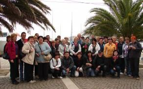 Skupinska fotografija izletnikov iz sončne Toscane