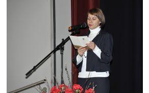 Slavnostna govornica Alenka Jeraj. (Foto: Foto atelje Pavšič Zavadlav)