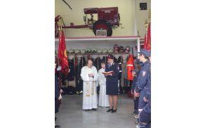 Blagoslov obnovljene gasilske črpalke