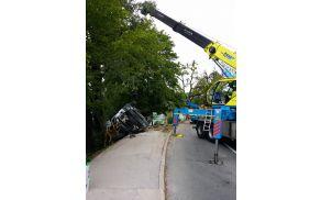 Nedavna nesreča cisterne ob Blejskem jezeru.