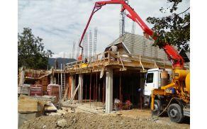 Dela na gradbišču v Kovorju
