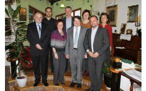 Delovni obisk francoskega veleposlanika v Kobaridu. Foto Nataša Hvala Ivančič
