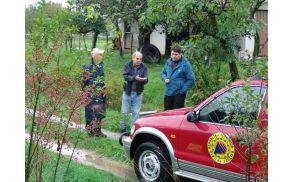 S civilno zaščito je bil vseskozi na terenu tudi župan Milan Turk.