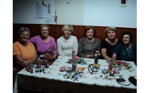 Udeleženke delavnice izdelki iz Fimo mase
