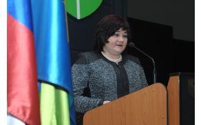 Slavnostna govornica Irena Škvarč, direktorica Goriške knjižnice Franceta Bevka. (Foto: Foto atelje Pavšič Zavadlav)