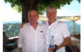 Levo mag. Jernej Brence, desno Leo Ličof. Po zaključku Festivala Bled bo že 19. julija na sporedu prvi koncert Etno festivala Okarina Bled.