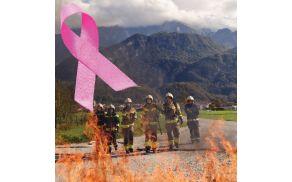 Kobariške gasilke proti raku dojk v Posočju
