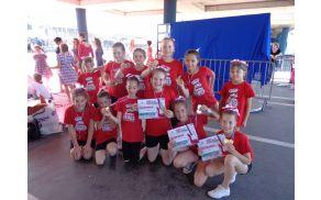 Zlata žabja otroška cheerleading ekipa