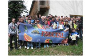 Veselje igralcev Salonita ob uspešno zaključenih akcijah. Foto: Borut Jurca