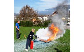 Gašenje z ročnimi gasilniki