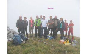 Na vrhu Breškega Jalovca / Punta di Montemaggiore (1613m)