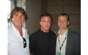 *Janko Čretnik, Sylvester Stallone in Peter Štefka, poslovni partner iz Slovaške.