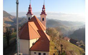 Cerkev sv. trojice na Gojki z novo kritino