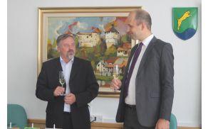 Župan Franc Škufca in predsednik uprave CGP Martin Gosenca Foto:V. Kostevc