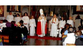Miklavž v cerkvi sv. Mihaela