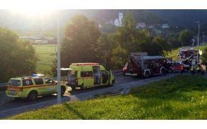 Prometna nesreča v juliju 2013 na Pristavi pri Polhovem Gradcu