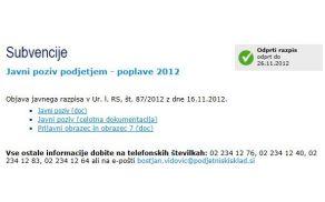 Javni poziv je objavil Slovenski podjetniški sklad, www.podjetniskisklad.si