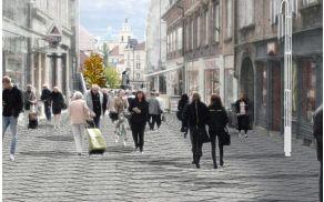 Predviden izgled Čopove ulice po prenovi. (foto: JP Vo-Ka)