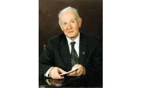 """""""Brez čebel ne bi mogel živeti,"""" je dejal prof. dr. Jože Rihar leta 1999 ob podelitvi Jesenkovega priznanja (portret, Foto Potrč, 1994)."""