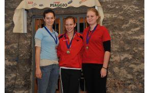 Anuša Kovačič, prva z leve drugo uvrščena na prvem krogu mladinske lige