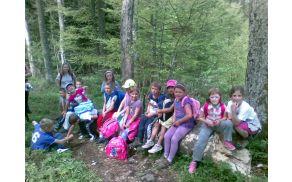 Počitek na poti na Trdinov vrh.