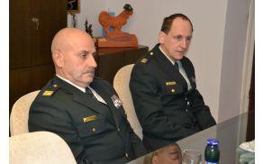 Gosta, načelnik štaba poveljstva sil SV brigadir Vojteh Mihevc in poveljnik 11. bataljona za zveze podpolkovnik Stanislav Šantelj