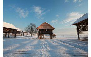 zimska idila v Deželi kozolcev
