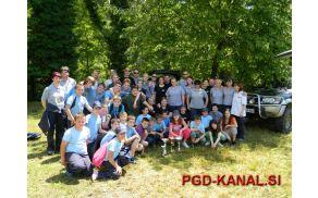 Še skupinska slika gasilcev PGD Kanal. Foto: PGD Kanal
