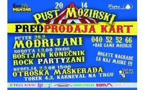 Pust Mozirski z Modrijani in Rock PartyZani