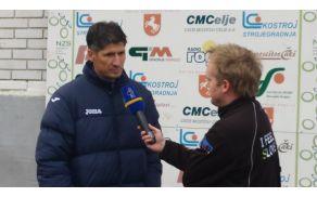 intervju s trenerjem Simonom Sešlarjem po zmagi