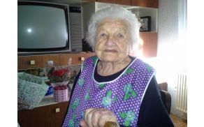 Zadnje praznovanje 95 let težkega, a bogatega življenja Marije Robač iz Šikol.