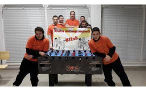 Člani kluba Blisk ob sprejemu Fireballa