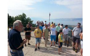 Godbeniki so si ogledali tudi del turistične ponudbe kraja Novi Vinodolski