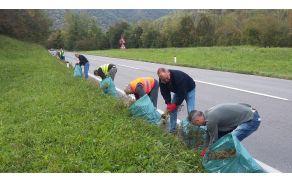 Prostovoljci na delu, foto:arhiv KS Kanal