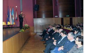 Predsednik Klemen Stanič, praznik KS Anhovo-Deskle Foto: Borut Jurca